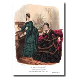 Gravure La Mode Illustrée 1870 47