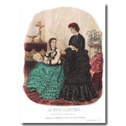 Gravure La Mode Illustrée 1870 49