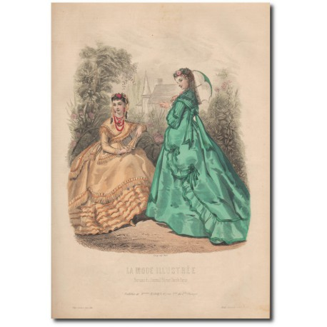 Gravure de La Mode Illustrée 1868 25