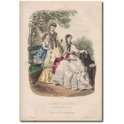 Gravure de La Mode Illustrée 1868 32