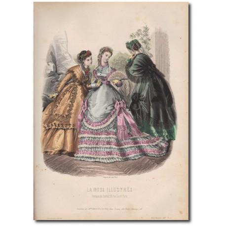 Gravure de La Mode Illustrée 1868 35