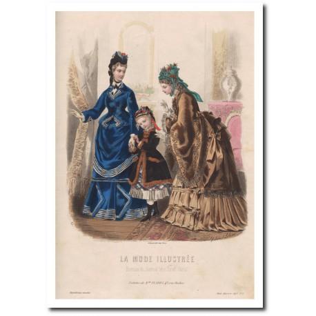 Gravure de La Mode Illustrée 1873 01