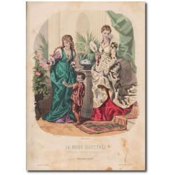 Gravure de La Mode Illustrée 1873 03