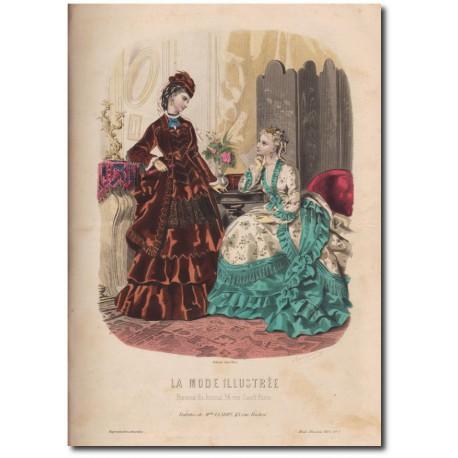 Gravure de La Mode Illustrée 1873 05