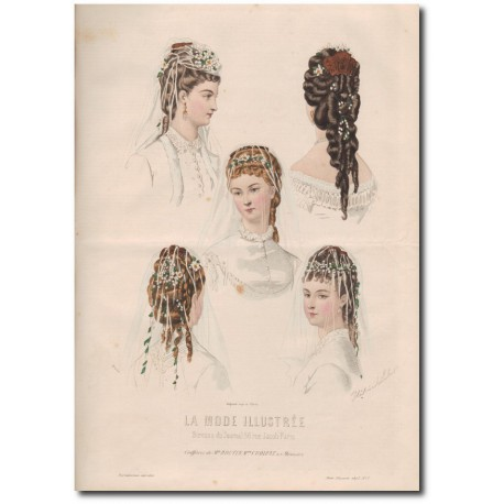 Gravure de La Mode Illustrée 1873 07