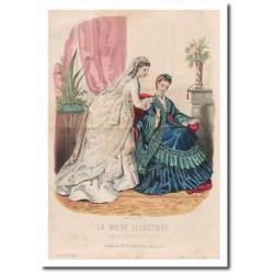 Gravure de La Mode Illustrée 1873 11