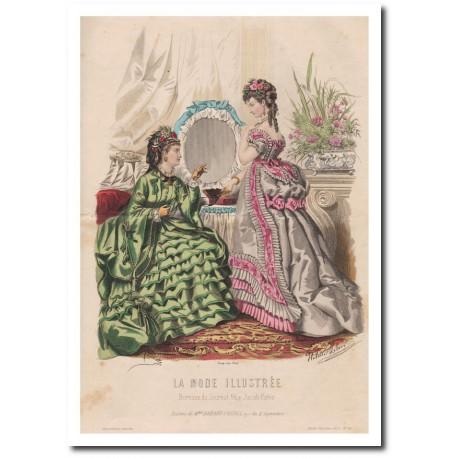 Gravure de La Mode Illustrée 1873 16