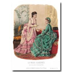 Gravure La Mode Illustrée 1870 34