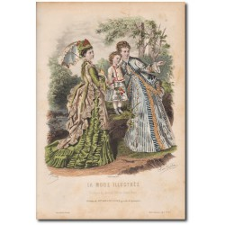 Gravure de La Mode Illustrée 1873 33