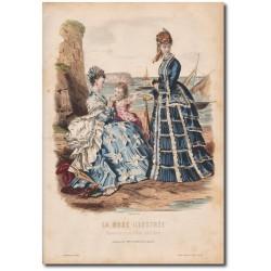 Gravure de La Mode Illustrée 1873 36