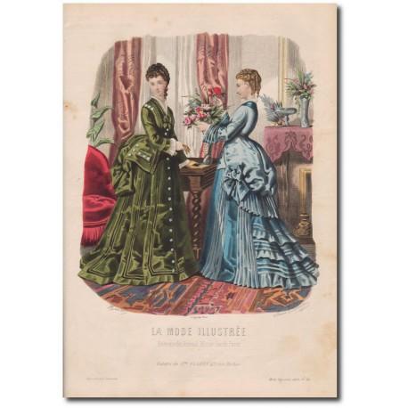 Gravure de La Mode Illustrée 1873 38