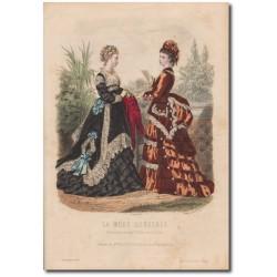Gravure de La Mode Illustrée 1873 40