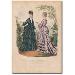 Gravure de La Mode Illustrée 1873 42