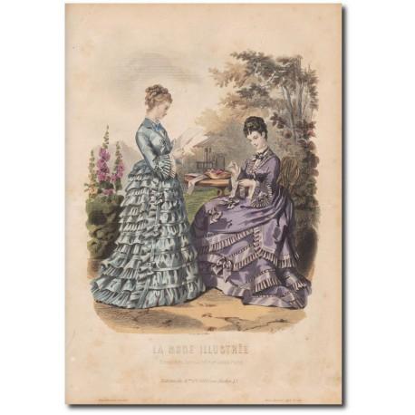 Gravure de La Mode Illustrée 1873 44