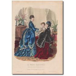 Gravure de La Mode Illustrée 1873 51
