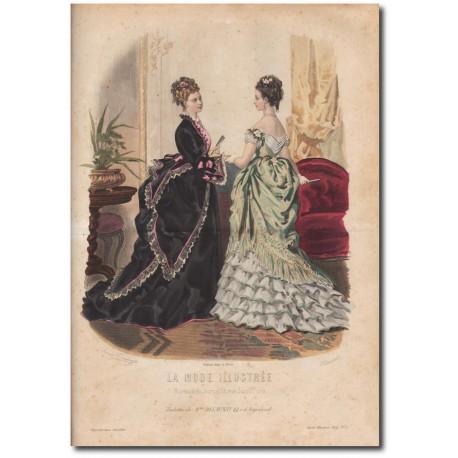 Gravure de La Mode Illustrée 1874 03