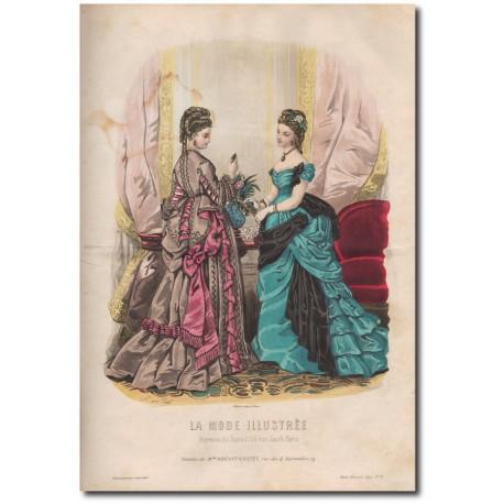 Gravure de La Mode Illustrée 1874 11