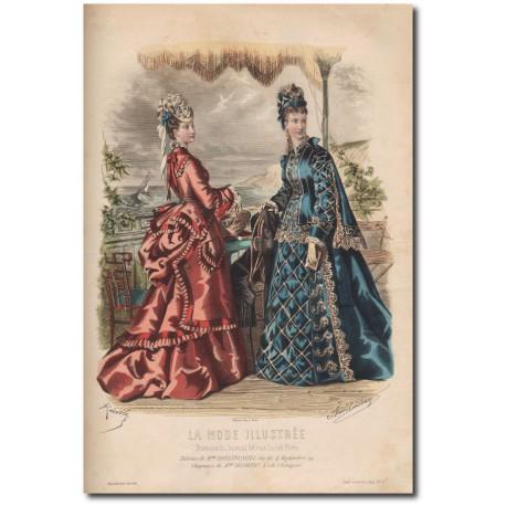 Gravure de La Mode Illustrée 1874 27
