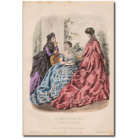 Gravure de La Mode Illustrée 1874 37
