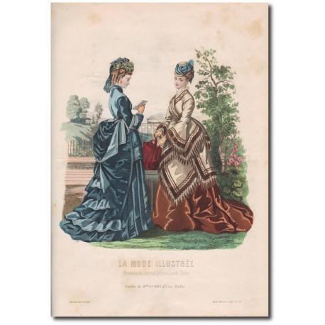Gravure de La Mode Illustrée 1874 38