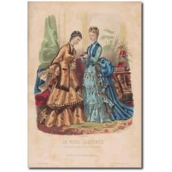 Gravure de La Mode Illustrée 1874 44
