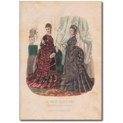 Gravure de La Mode Illustrée 1874 46