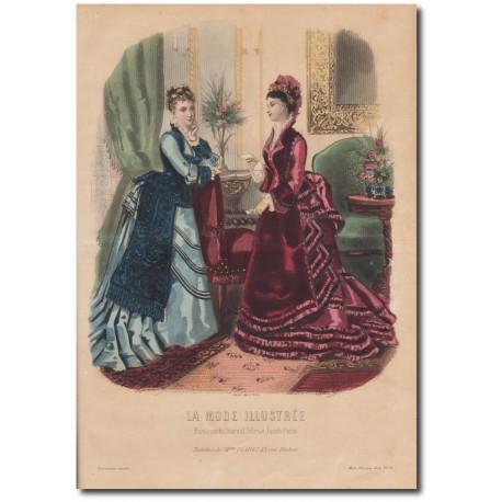 Gravure de La Mode Illustrée 1874 51