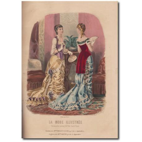 Gravure de La Mode Illustrée 1880 01