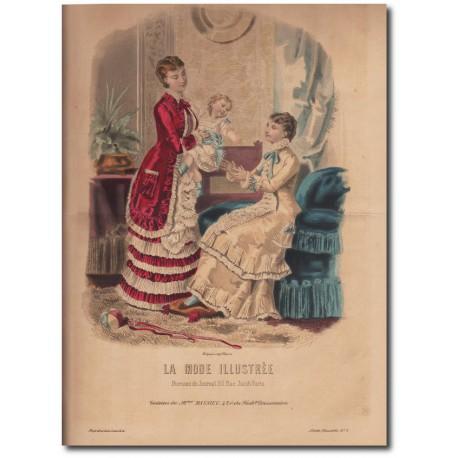 Gravure de La Mode Illustrée 1880 05