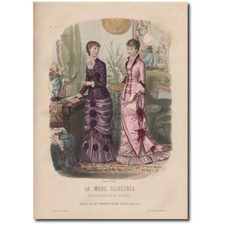 Gravure de La Mode Illustrée 1880 11