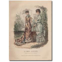 Gravure de La Mode Illustrée 1880 15