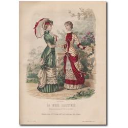 Gravure de La Mode Illustrée 1880 20