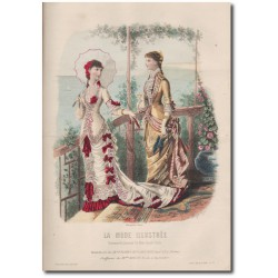 Gravure de La Mode Illustrée 1880 24