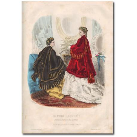 Gravure de La Mode Illustrée 1869 06