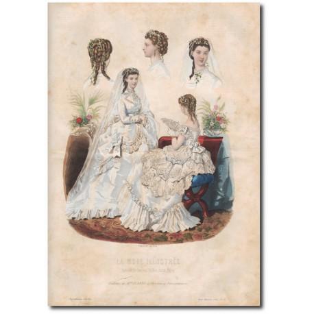 Gravure de La Mode Illustrée 1869 23