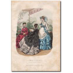 Gravure de La Mode Illustrée 1869 25