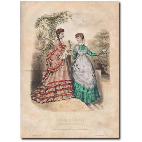 Gravure de La Mode Illustrée 1869 31