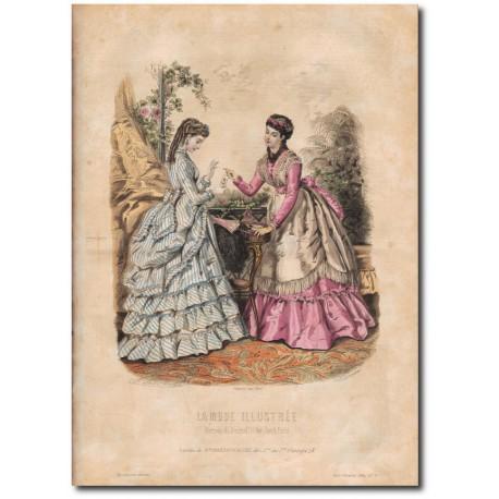 Gravure de La Mode Illustrée 1869 33