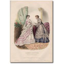 Gravure de La Mode Illustrée 1867 21