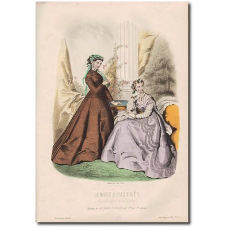 Gravure de La Mode Illustrée 1867 25