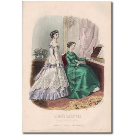 Gravure de La Mode Illustrée 1867 34