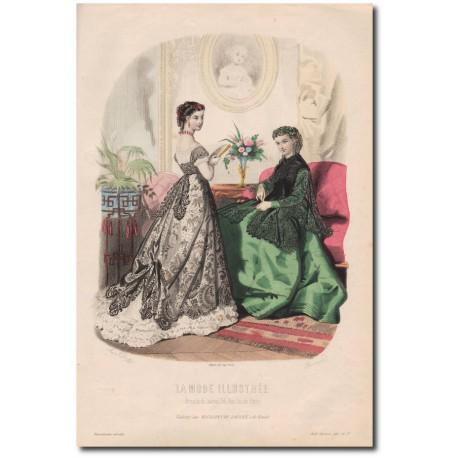 Gravure de La Mode Illustrée 1867 37