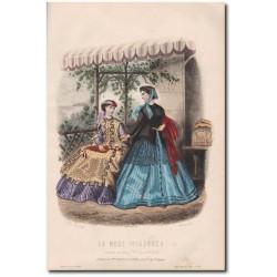 Gravure de La Mode Illustrée 1867 38