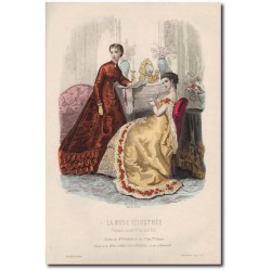 Gravure de La Mode Illustrée 1867 47