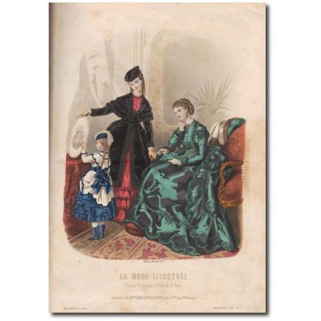 Gravure de La Mode Illustrée 1870 01