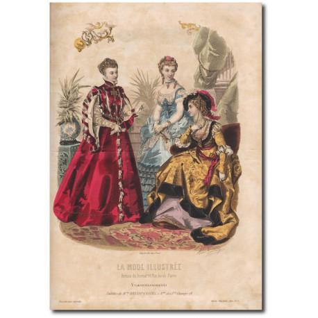 Gravure de La Mode Illustrée 1870 03