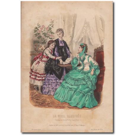 Gravure de La Mode Illustrée 1870 10