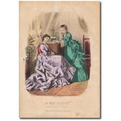 Gravure de La Mode Illustrée 1870 24