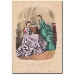 Gravure de La Mode Illustrée 1870 26