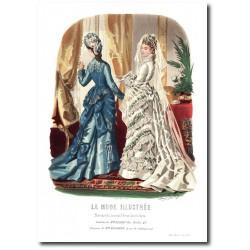 Gravure La Mode Illustrée 1876 6